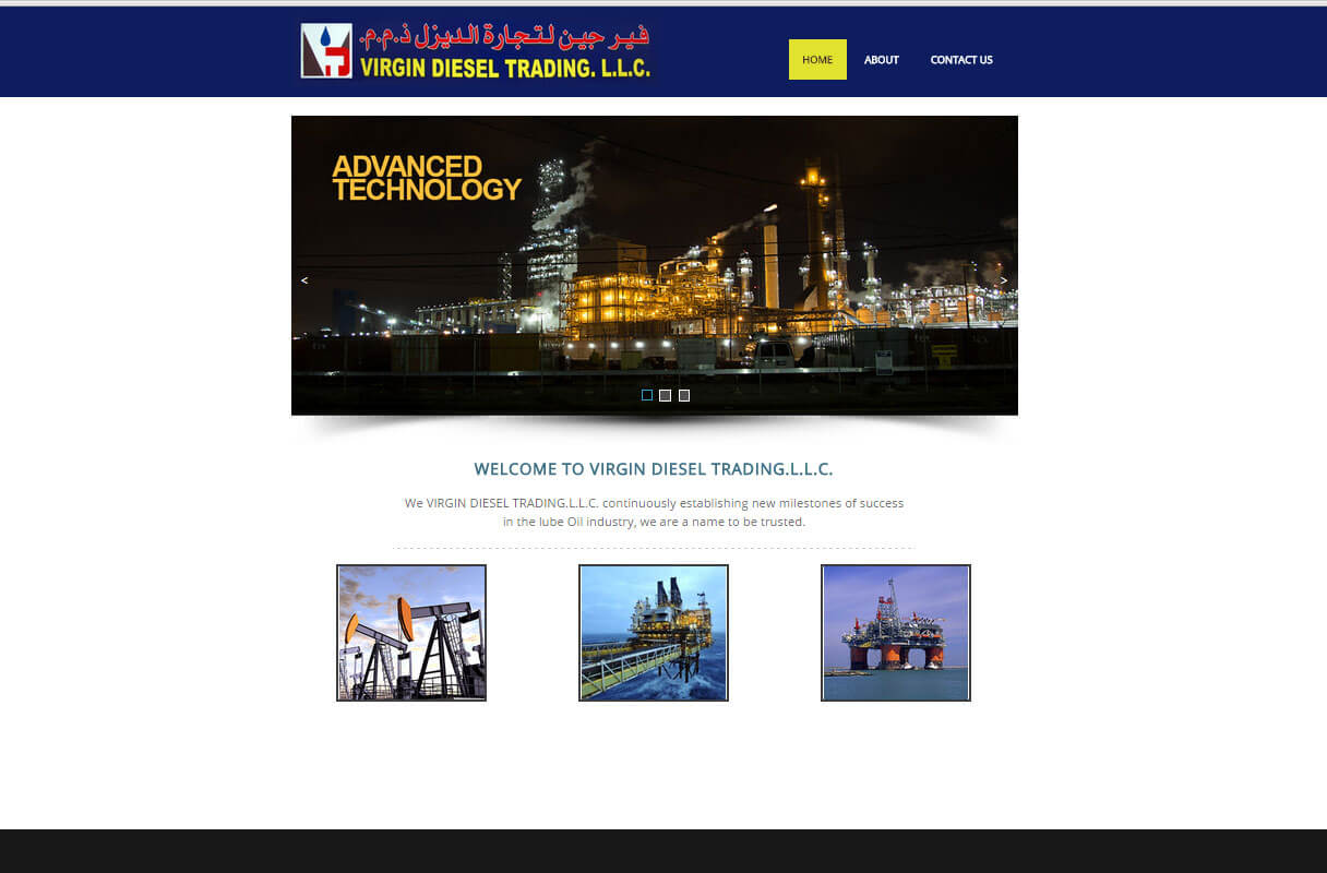 diesel trading website theme