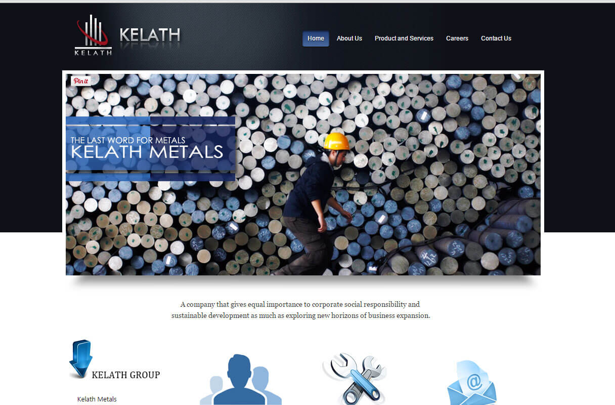 metal traders website theme