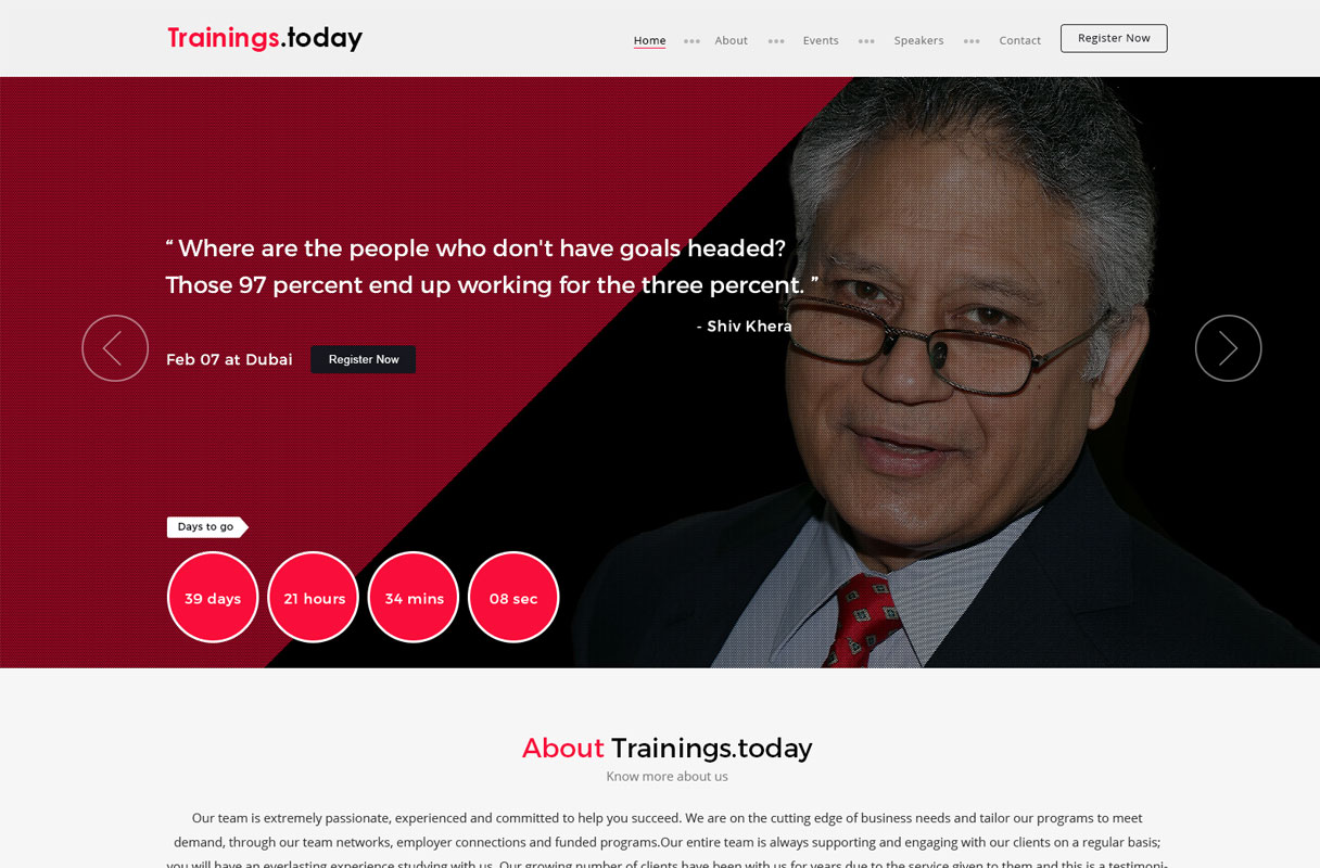 motivational website theme