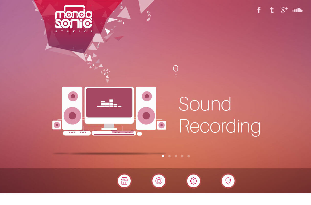 music studio website theme