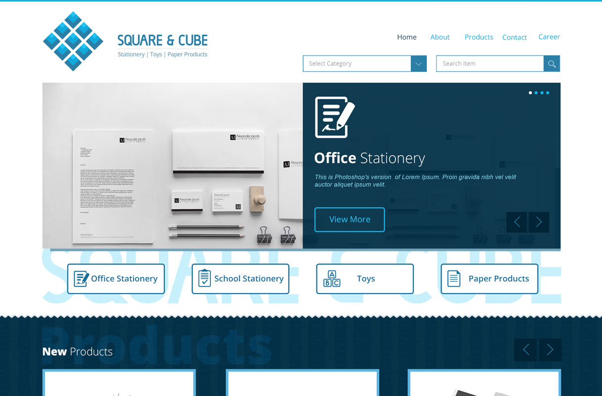 online stationery website theme