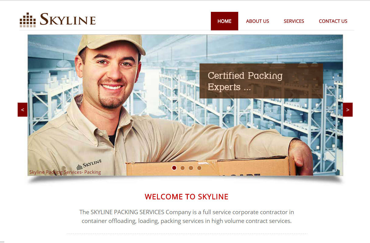 packing company website theme